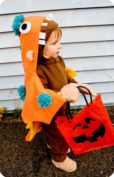 Curious George Dressed Up Like a Monster Costume!