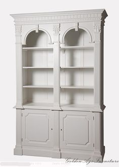 * Made to Order * French Provincial Arch Style Bookshelf / Display Cabinet | eBay