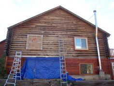 Colorado Log Home – Wood Restoration Using The Best – Most Modern Methods! Dustless Blasting, Corn Cob Grit Blasting, Walnut Shell Blasting #log #home, #log #cabin, #wood #restoration, #corn #cob #grit #blasting, #walnut #shell, #uv #rays, #oxalic #acid, #citric #acid, #trisodium #phosphate, #pressure,washing,cleaning,hydroblasting,sandblasting,media…