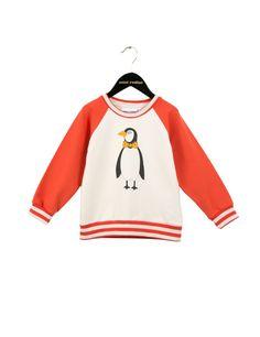 Mini Rodini Penguin Sweatshirt - Red