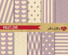 -40% Digital Scrapbooking Paper Pack by All is full of Love on @creativemarket