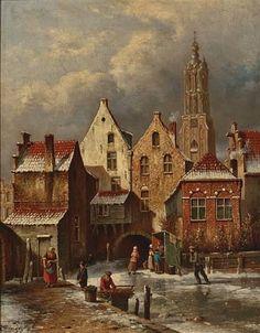 Oene Romkes de Jongh - Winter in Haarlem (3)