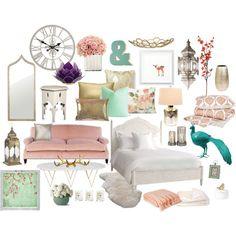 Blush & mint bedroom