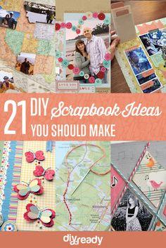 21 DIY Scrapbook Ideas You Should Make by DIY Ready at http://diyready.com/cool-scrapbook-ideas-you-should-make/
