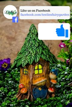 Teelie's Fairy Garden | Like us on Facebook and get more exciting tips and updates on fairy gardening! #fairygarden