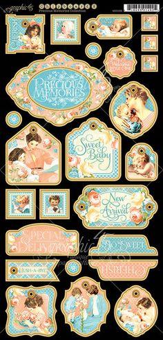 PRECIOUS MEMORIES Graphic 45 Chipboard Die Cuts 2