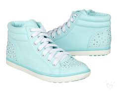 Mint-colored high-tops with just the right amount of shimmer perfect for every spring adventure.
