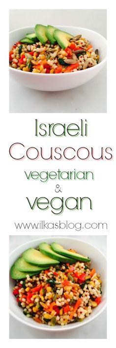 Israeli Couscous Salad #vegan #couscous #healthy