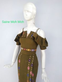 Traditional Dresses Designs, Myanmar Dress Design, Myanmar Traditional Dress, Fashion Terms, Infinity Dress, Latest African Fashion Dresses, Colourful Outfits, Fashion Sewing, I Dress