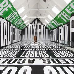 Barbara Kruger's powerful messages on the modern world command attention... http://www.we-heart.com/2014/08/04/barbara-kruger-at-modern-art-oxford/