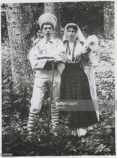 Romanie with his mother, in the National costume. When a father succeeds his son as King, one of Europe's Monarchs in his youth.the present King Carol of Roumania as a young Prince. Young Prince, Romania, Father, Winter Jackets, Princess Zelda, King, Queen, Costumes, History