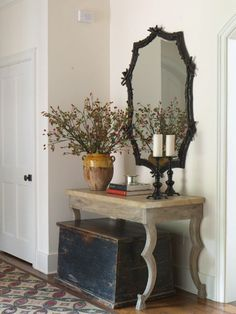 love this for the foyer, without the trunk...