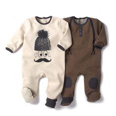 Babygrow em moletão (lote de 2) R Baby   La Redoute