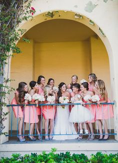 This is such a sweet shot of the bride and her bridesmaids! // Shelly Anderson Photography