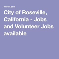 Search CareerBuilder for Jobs in Roseville, CA and browse our platform. Apply now for jobs that are hiring near you.