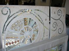 .Mosaico Mirror Mosaic, Mosaic Wall Art, Glass Wall Art, Mosaic Glass, Stained Glass Birds, Stained Glass Patterns, Mosaic Patterns, Fused Glass, Mosaic Crafts