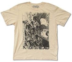 "RADIOHEAD ""SCRIBBLE ON NATURAL"" T-SHIRT WASTE NEW ADULT OFFICIAL KID A LYRIC 2XL in Clothing, Shoes & Accessories,Men's Clothing,T-Shirts 