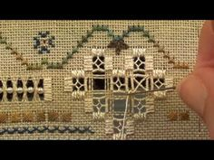 10 A Stitcher's Heart - Hardanger - Twisted Spokes - YouTube