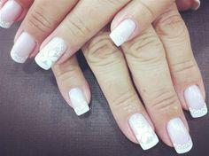 Unhas para casamento - 1 (© Unhas para casamento Fotos: Divulgação; Éder Haida) 1, How To Make, Beauty, Nails For Wedding, Nailed It, Nail Bling, Brides, Head Bands, Pictures