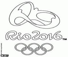 logo of olympic games rio 2016 coloring page