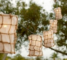 Fishing Net String Lights #potterybarn