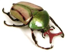 Recently we have been developing ideas that place our insects into enlarged fragments of magnified worlds, utilizing steel, copper and other metals.