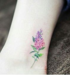 Lilac Watercolor Tattoo