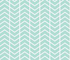chevron stripe sea  fabric by ninaribena on Spoonflower - custom fabric