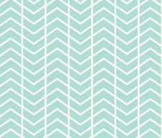 chevron stripe sea fabric by ninaribena on Spoonflower - custom fabric