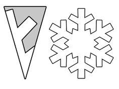 Resultat d'imatges de plantilles per fer flocs de neu amb paper
