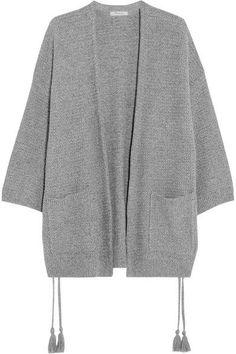 Madewell | Tasseled crochet-knit cotton-blend cardigan | NET-A-PORTER.COM