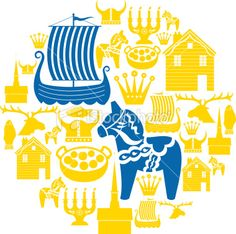 Swedish Icon Montage royalty-free swedish icon montage stock vector art & more images of candle Swedish Decor, Swedish Style, Swedish Design, Scandinavian Design, Swedish Tattoo, Voyage Suede, Kingdom Of Sweden, Swedish Girls, Swedish Christmas