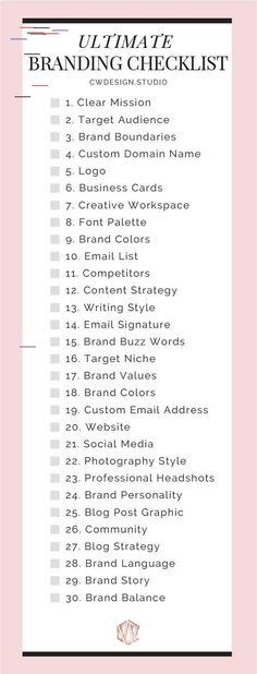 The Ultimate Branding Checklist The Ultimate Branding Checklist For Startup Busi. - The Ultimate Branding Checklist The Ultimate Branding Checklist For Startup Businesses & Entreprene - Marketing Digital, Content Marketing, Social Media Marketing, Small Business Marketing, Affiliate Marketing, Online Marketing, Marketing Strategies, Brand Marketing Strategy, Internet Marketing