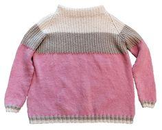 STRIKKEGENSER: Denne vakre ullgenseren akn du lett strikke selv! Cute Sweaters, Miu Miu, Men Sweater, Beige, Pullover, Knitting, Pattern, Etsy, Fashion