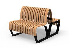 Panca con schienale doppio NOVA C WITH BACKREST DOUBLE | Panca modulare Serie Nova C by Green Furniture Sweden | design Johan Berhin, Fanny Stenberg