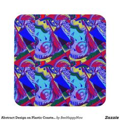 Abstract Design on Plastic Coasters (set of 6)