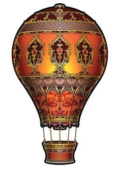 Hot Air Balloon - Steampunk Temporary Tattoos