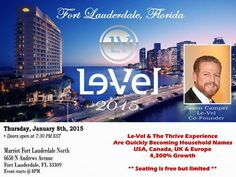 We welcome everyone to Join Us for FREE on our upcoming event this January 8,2015. This is a one time Business Opportunity you should not miss! Come and Join Us. http://yourthriveexperience.blogspot.com/2015/01/attention-upcoming-event-you-should-not.html