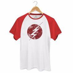 Camiseta Raglan Masculina The Flash Serie Tracing Logo - R$ 79,90