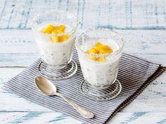 Kokos-Leinsamen-Pudding