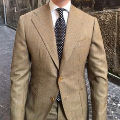 """violamilano: """"Tom of Viola Milano on the streets of Naples… Shop The Classic White shirt & polka Dot tie online at www.violamilano.com #violamilano #handmade #madeinitaly #luxury #tailoring #sartorial #timeless #elegance """""""