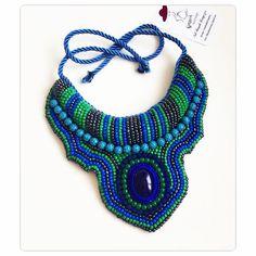 Eucalyptus Spring Necklace #nilbasak_accessory #handmade #necklace #handcrafted #spring #collection #dubai #nyc #tibetan #nepali #zulu #africanfashion #africanstyle #green #blue #eucalyptus #eygptian #accesorios #accessory