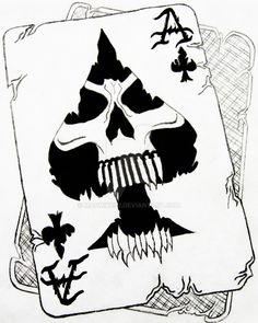 Ace of Spades with skull inside Death Ace Ace Of Spades Tattoo, Card Tattoo Designs, Skull Tattoo Design, Tattoo Ideas, Evil Skull Tattoo, Skull Tattoos, Skull Stencil, Stencil Art, Spade Tattoo