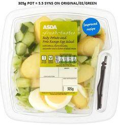 Asda Baby Potato Salad Syns Asda Slimming World, Baby Potato Salad, Asda Recipes, Baby Potatoes, Free Range, Egg Salad, Cantaloupe, Fresh, The Originals