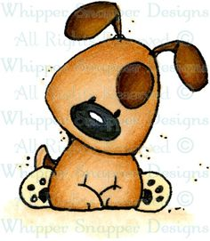 Perky Pup Sitting - Dogs - Animals - Rubber Stamps - Shop