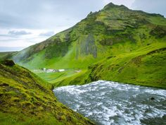 View from the top of Skógafoss
