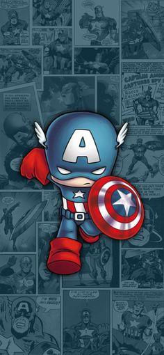 Baby Avengers, Baby Marvel, Chibi Marvel, Avengers Cartoon, Marvel Art, Marvel Heroes, Marvel Avengers, Captain America Wallpaper, Captain America Art