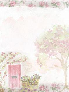 부드러운, 핑크, 로즈, 배경, 문, 트리, 로맨틱, 냄비, 꽃, 튤립, 초상화, 꽃다발