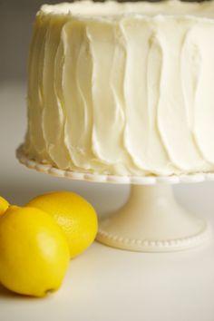 simply inspired home - Lemon Buttercream Cake Lemon Desserts, Lemon Recipes, Just Desserts, Sweet Recipes, Delicious Desserts, Dessert Recipes, Lemon Cakes, Cupcakes, Cupcake Cakes
