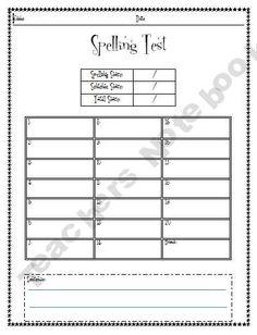 Spelling & Phonogram Test Forms    Formative Test 의 전형적인 형태로 수업 중간이나 한 차시 수업이 끝난 후(during, at the end of the class) 학습한 내용을 학생들이 잘 이해했는지 확인하기에 좋은 자료이다.